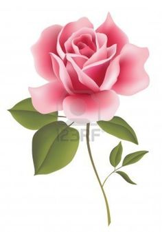 Red Rose bud Clipart.
