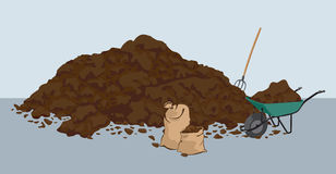 Cow Dung Stock Illustrations.
