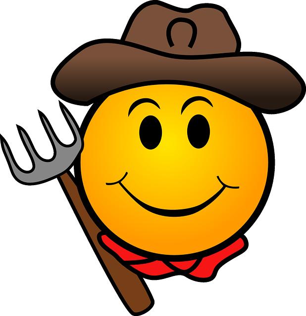 COWBOY, FARM, FARMER, SMILEY, TRIDENT, DUNG FORK.