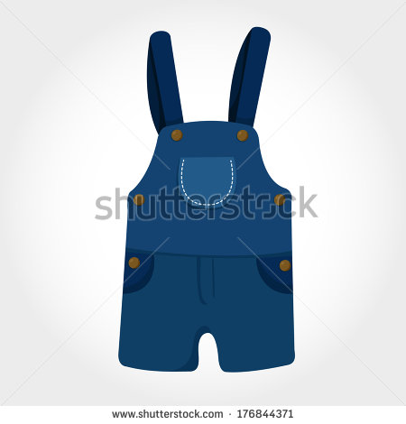 Dungarees clipart.