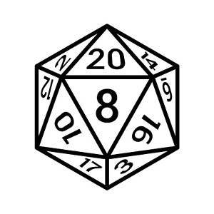 Details about 20 Sided Dice vinyl decal sticker D&D Dungeons and Dragons  Fantasy Sci.