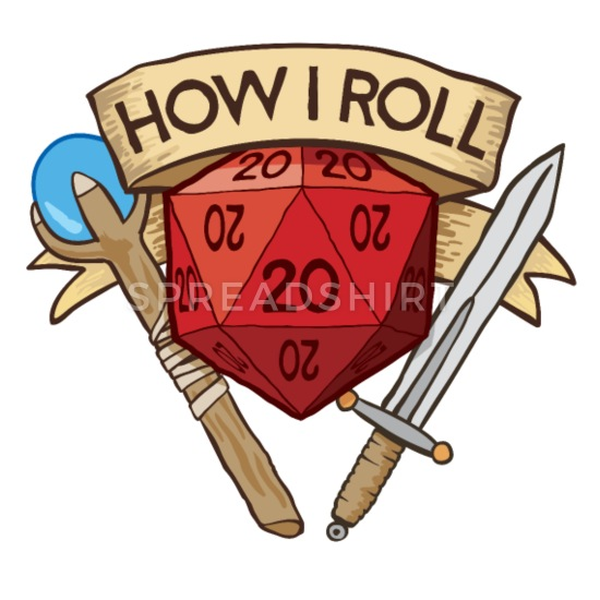How I Roll D&D DND Buttons large 2.2'' (5.
