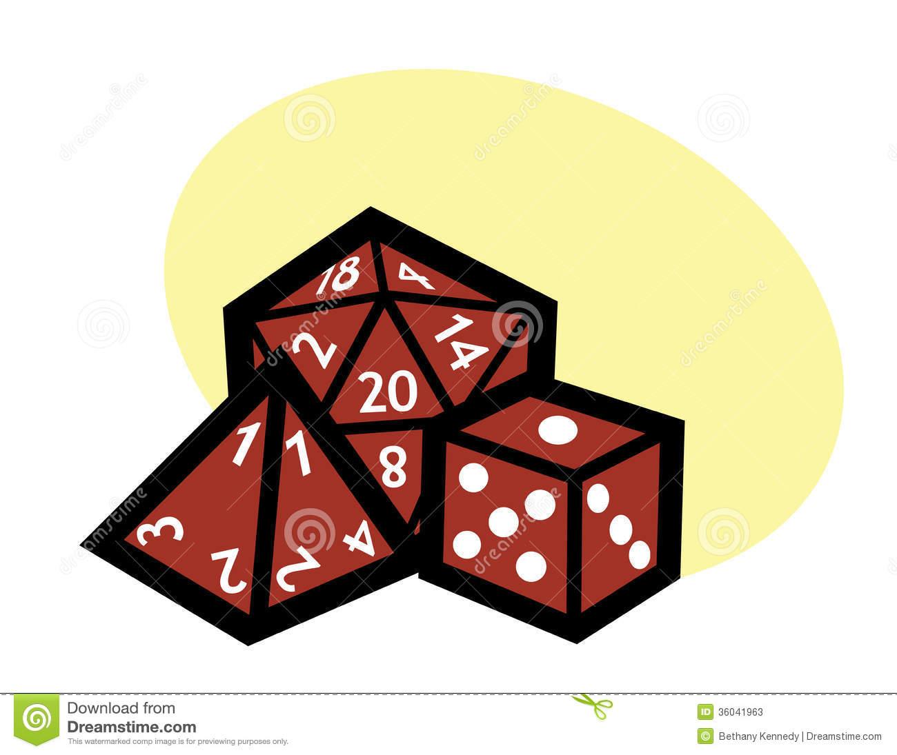 RPG dice stock vector. Illustration of master, modern.