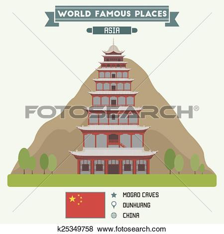 Clip Art of Mogao Caves, Dunhuang k25349758.
