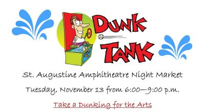 Dunk Tank for the Arts presented by St. Johns Cultural Council.