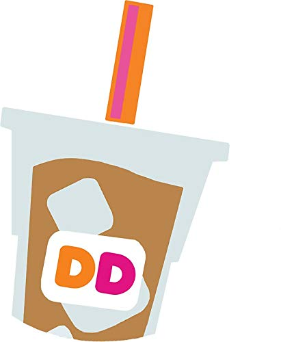 Dunkin Donuts Iced Coffee Logo Sticker Decal Window Bumper Sticker Vinyl 5