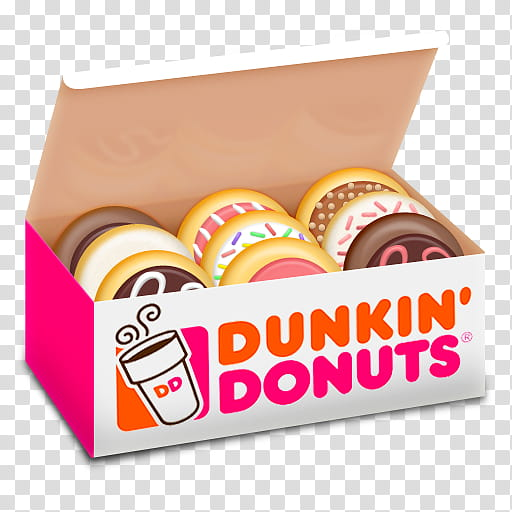 All my s, filled Dunkin' Donuts box illustration transparent.