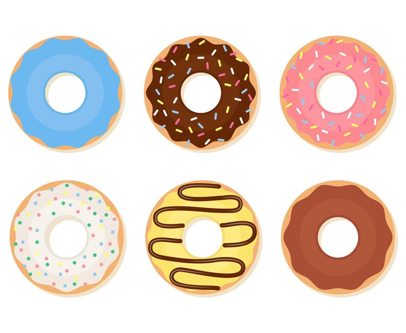 Donuts, Donut, Dunkin donuts, Sprinkle donut,  Silhouette,SVG,Graphics,Illustration,Vector,Logo,Digital,Clipart.