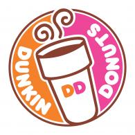 Logo of Dunkin Donuts.