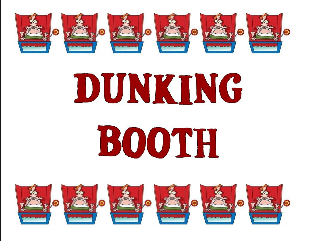 Dunking Booth (Booth Signage).