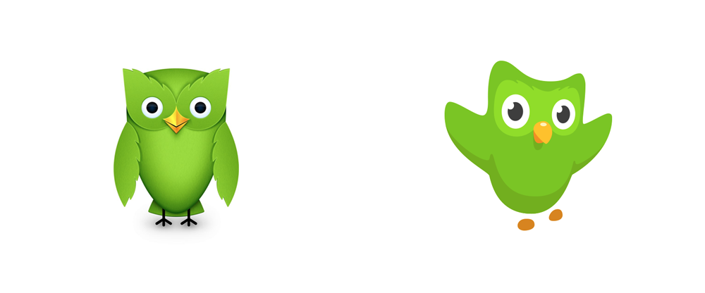 Brand New: New Logo for Duolingo Done In.