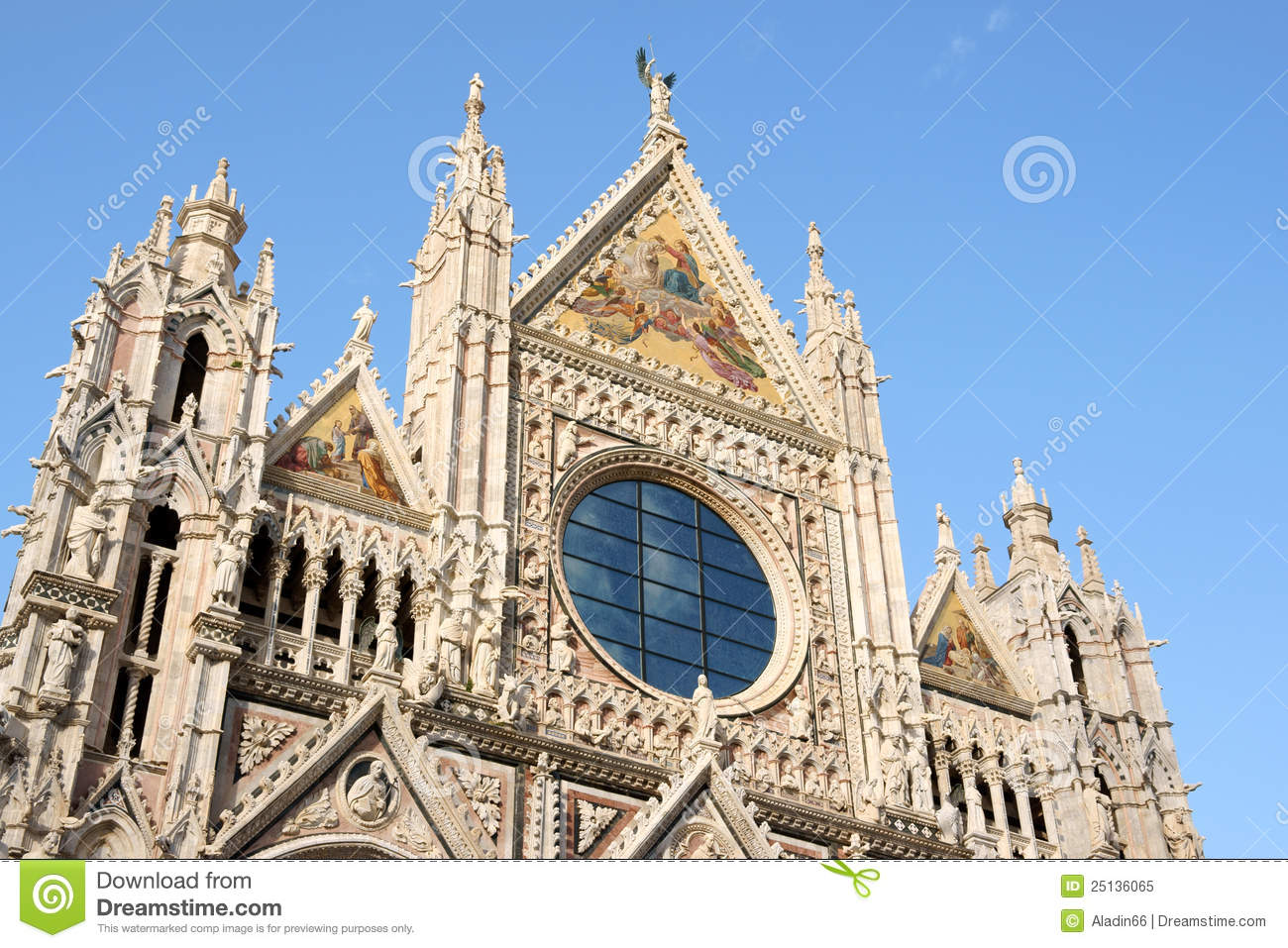 Cattedrale Di Siena Fotografia Stock Libera da Diritti.