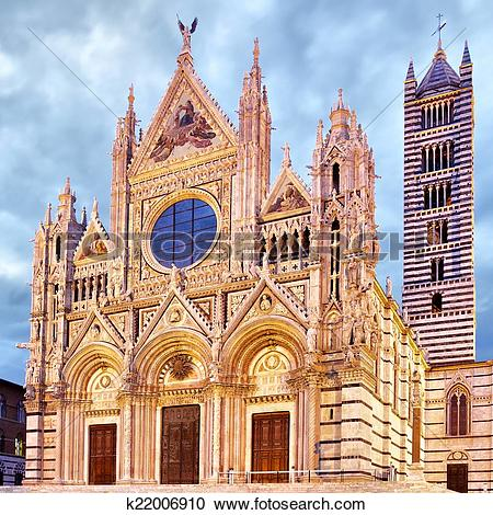 Stock Photography of Cathedral of Siena k22006910.