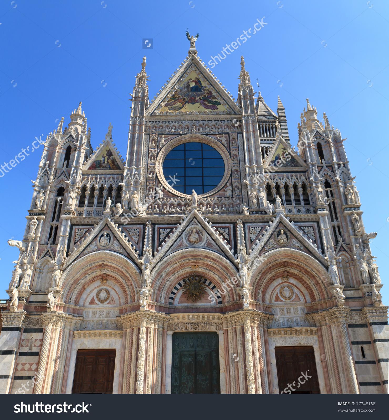 Facade Siena Dome Duomo Di Siena Stock Photo 77248168.