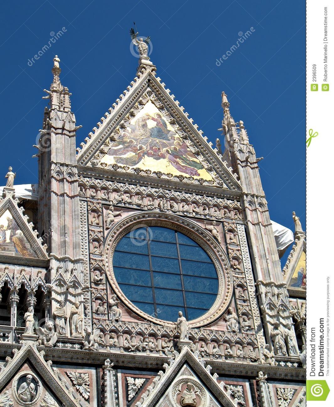 Facciata Del Duomo Di Siena Immagini Stock Libere da Diritti.