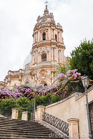 Duomo Di San Giorgio, Church Of St. George In Ragusa, Sicily Italy.