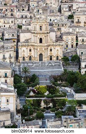 Stock Photo of Duomo di San Pietro, Modica, Sicily, Italy.