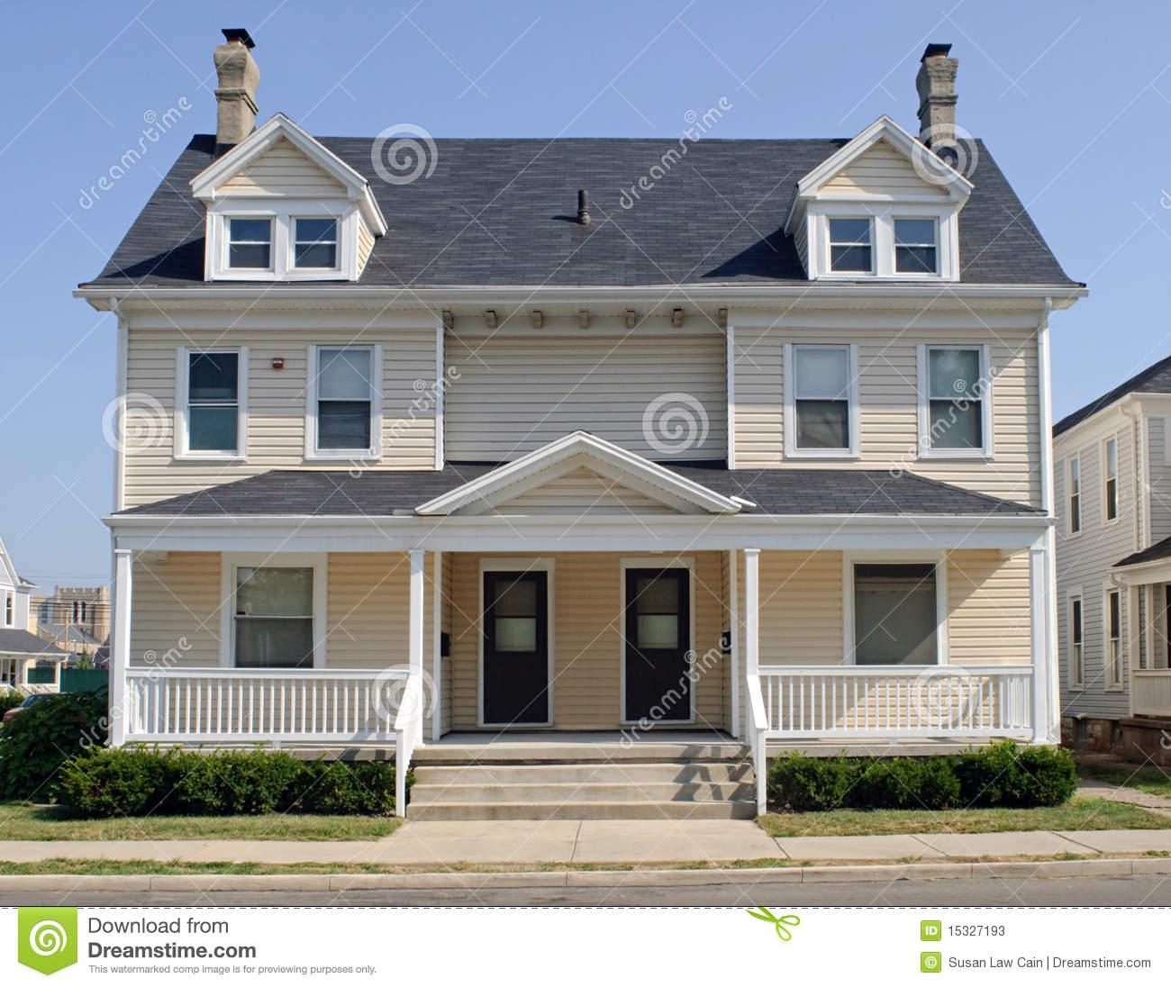 Duplex House Stock Photos, Images, & Pictures.
