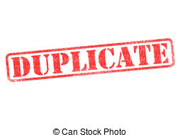 Duplicate Illustrations and Clip Art. 2,169 Duplicate royalty free.