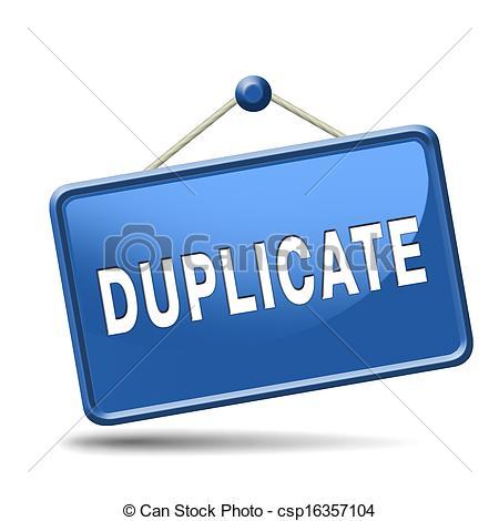 Duplicate Clipart.