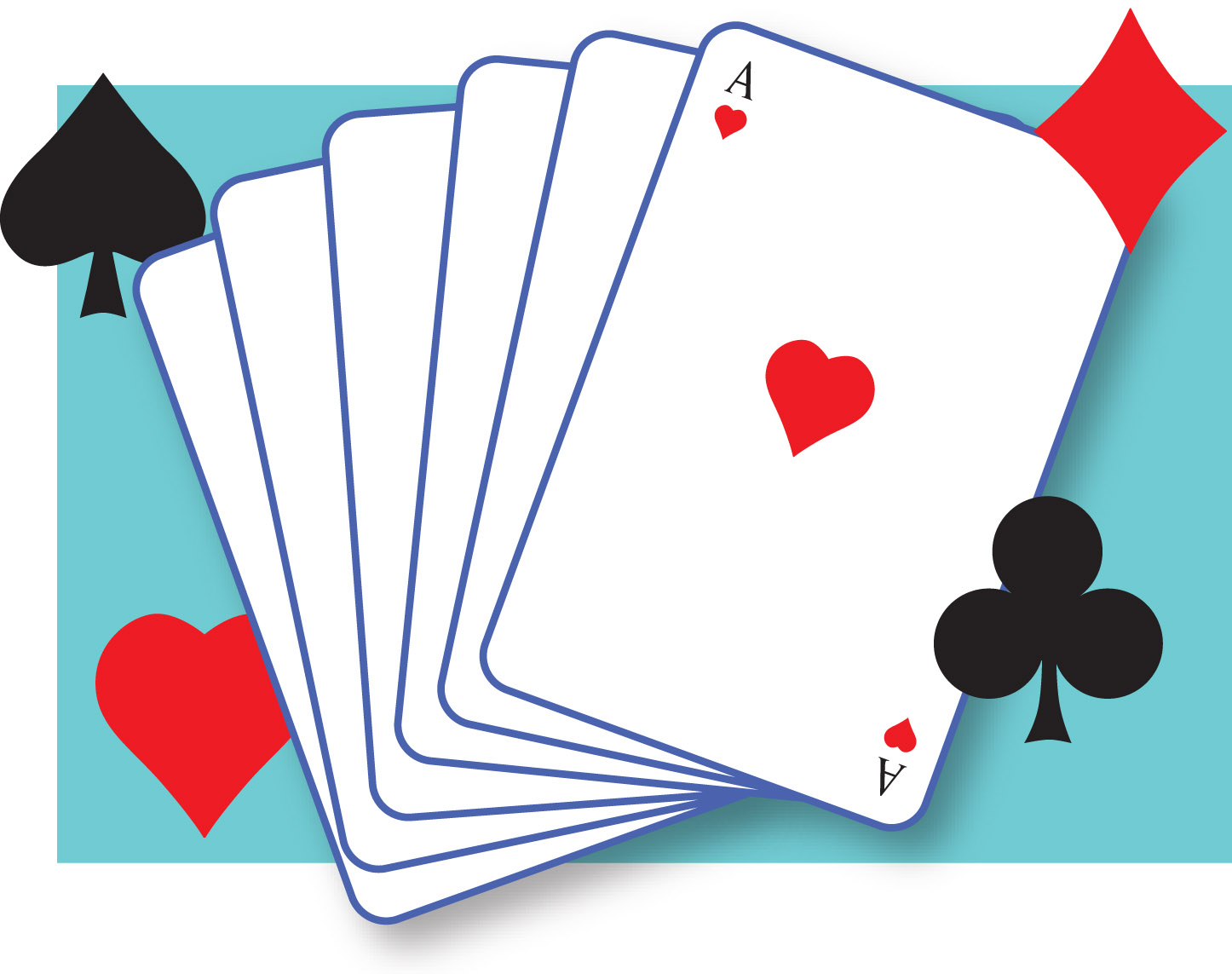 Duplicate Bridge Game Clip Art.