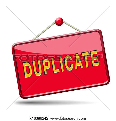 Clip Art of duplicate k16386242.