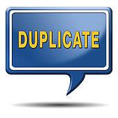 Duplicate Stock Illustrations.