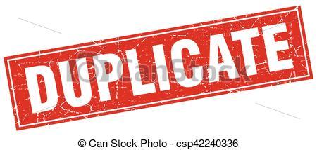 Vectors of duplicate square stamp csp42240336.