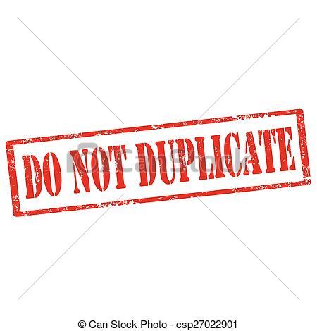 Vector Clipart of Do Not Duplicate.