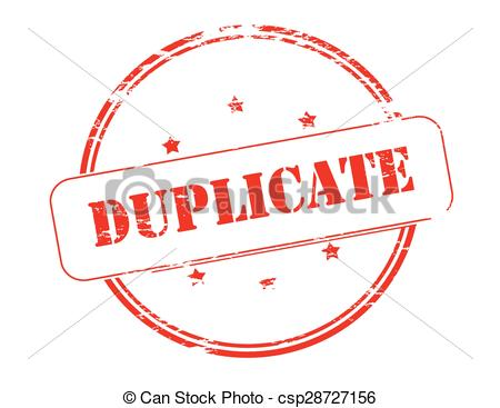 Clipart Vector of Duplicate.