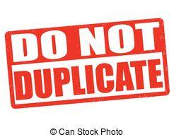 Clip Art Vector of Duplicate stamp.