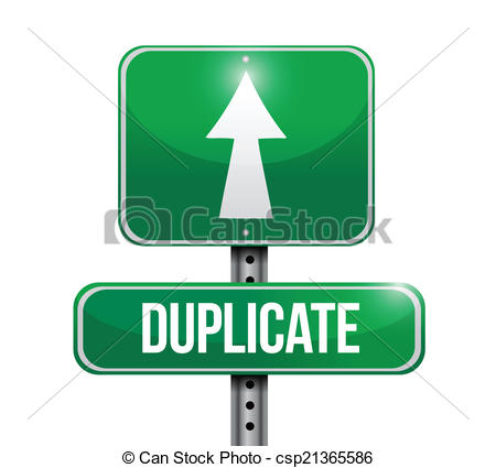 Vector of duplicate street sign illustration design over a white.