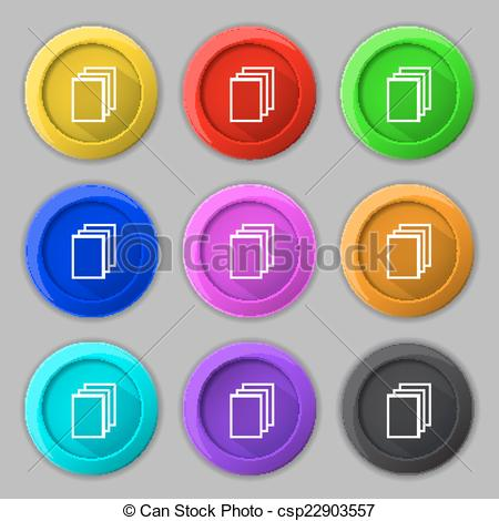 Clipart Vector of Copy file sign icon. Duplicate document symbol.