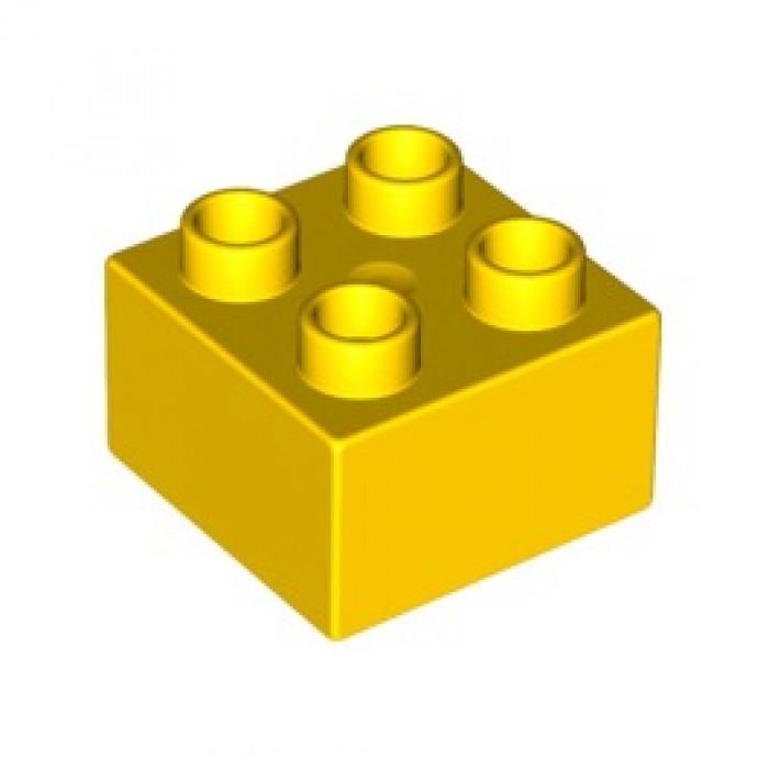 Buy LEGO Duplo Brick 2 x 2 (3437 / 17556 / 20678) Yellow.