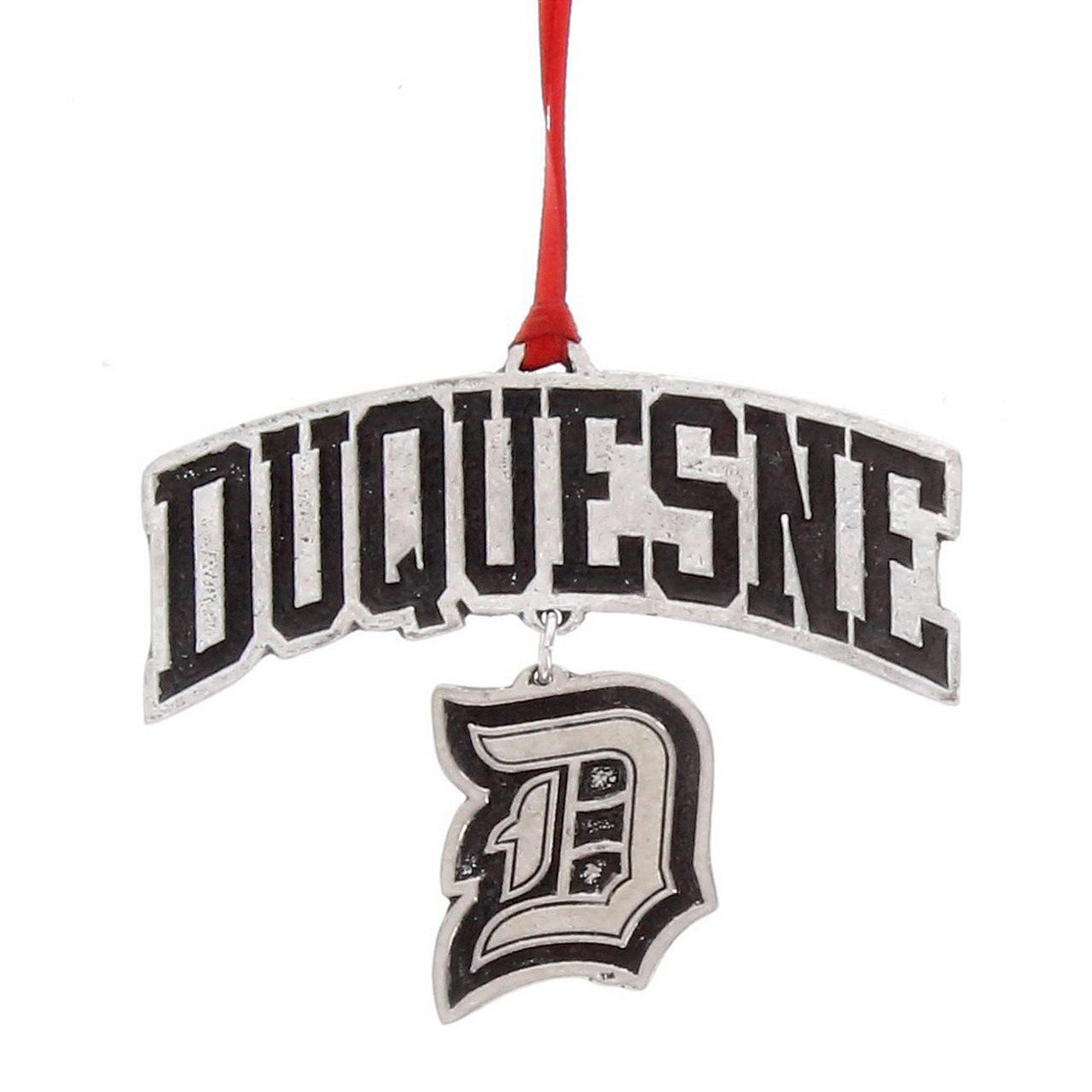 Duquesne University Logo Dangling Ornament.