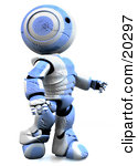 Clipart Illustration of a Tough And Durable Humanoid Blue And.