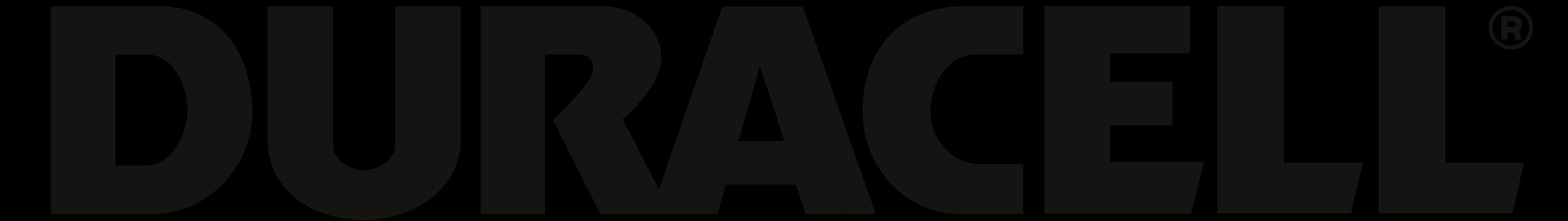 Duracell logo, logotype, black.