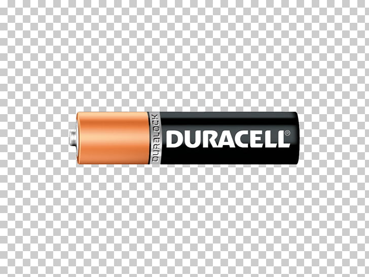 Duracell AA Battery, brown and black Duracell battery PNG.