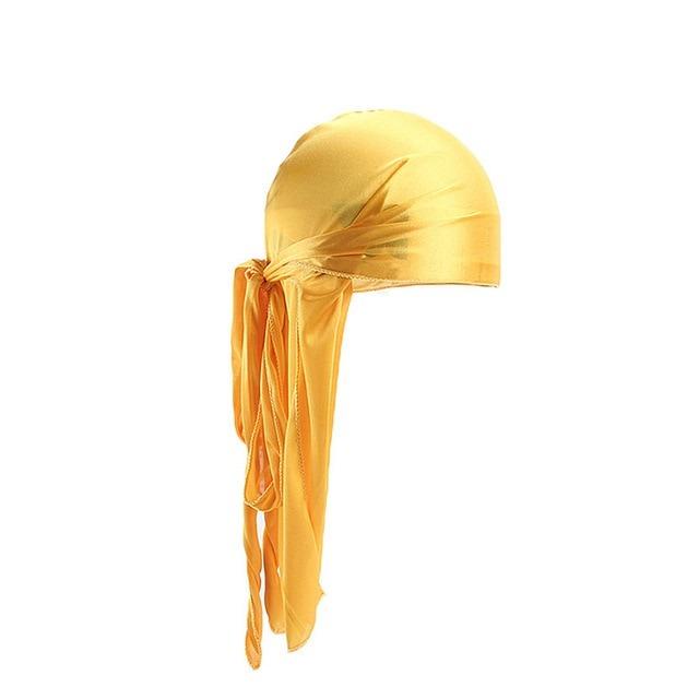 Yellow Silk Durag.
