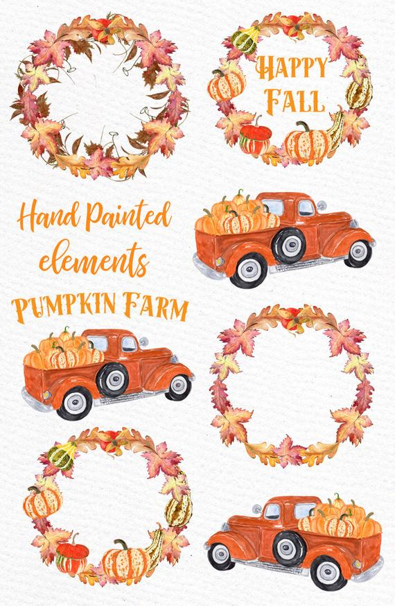 Pumpkin Farm Clipart: \