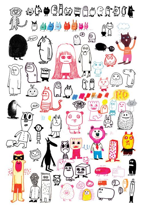 1000+ images about Monster Doodle on Pinterest.