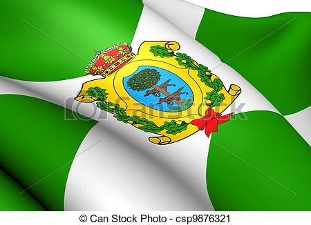 Clipart of Flag of Durango, Mexico. Close Up. csp9876321.