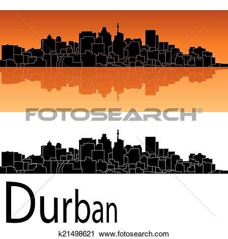 Clipart of Durban skyline k21498621.