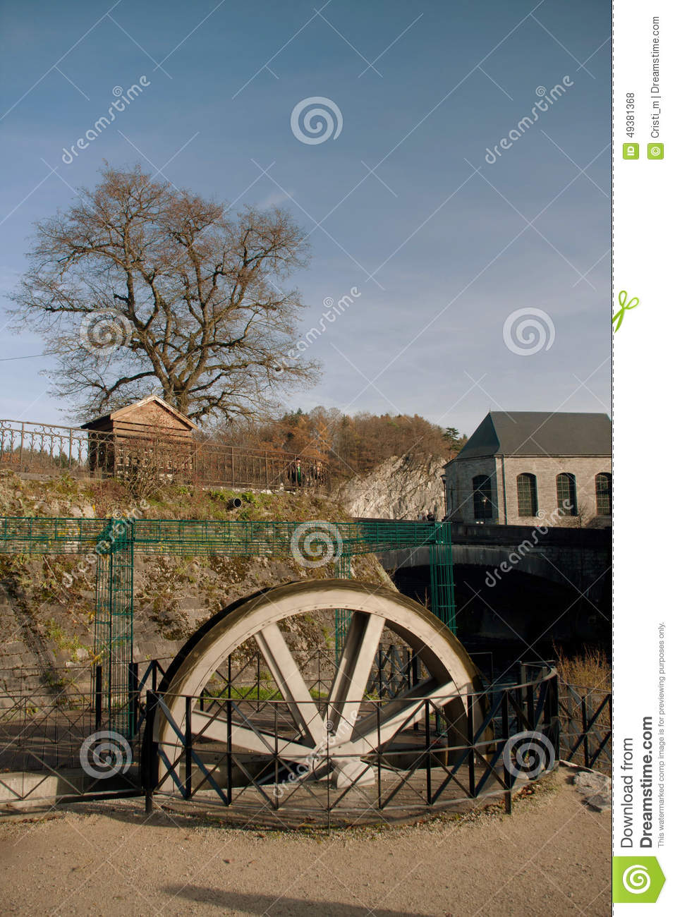 Water Mill In Durbuy Stock Photo.