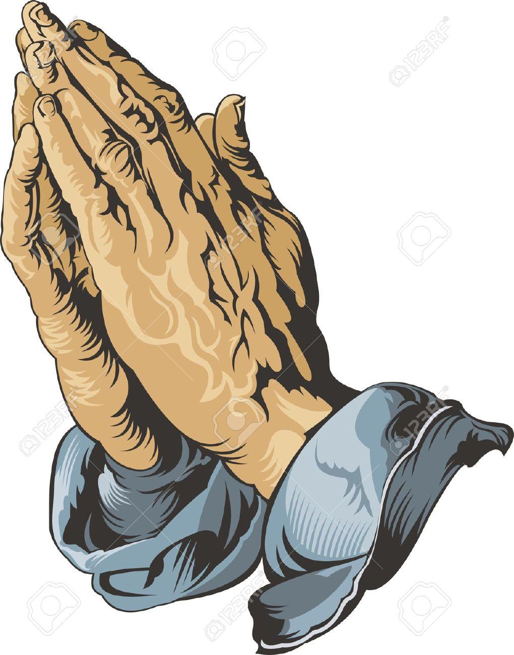 Jesus prayer hands clipart.