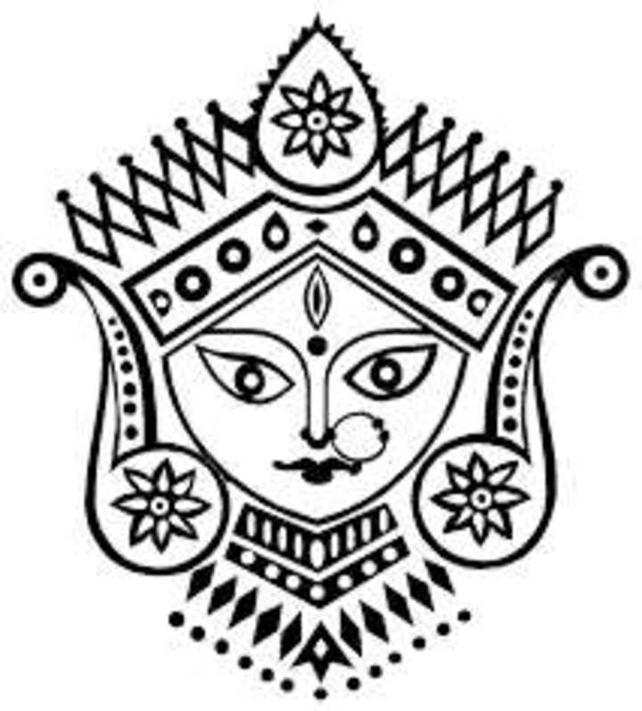 Durga Devi Face Clip Art Group (+), HD Clipart.