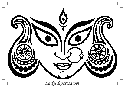 Durga Maa Eye Face Image.