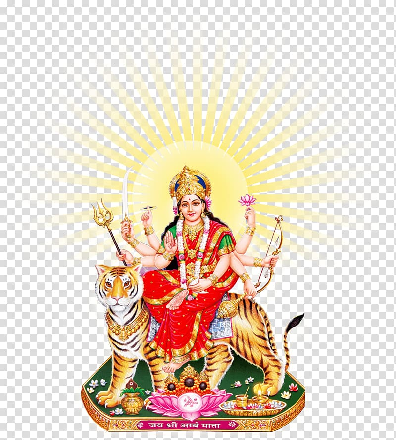 Goddess Durga illustration, Goddess Durga Maa Sun.