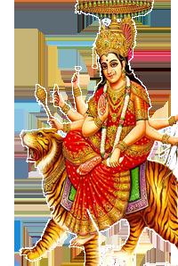 Goddess Durga Maa PNG Transparent Images.