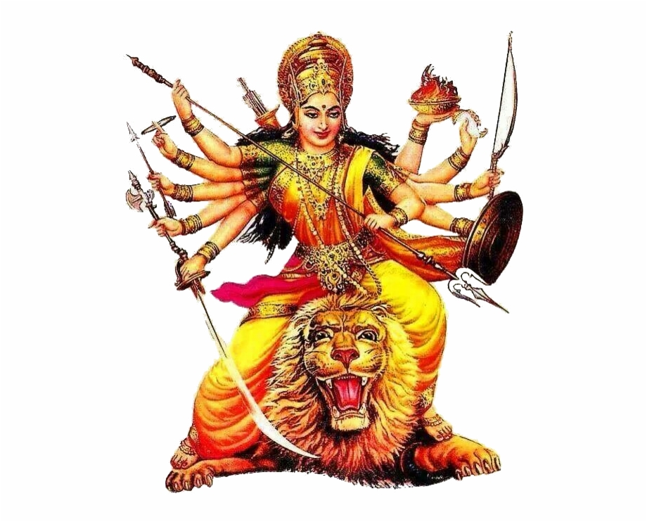 Lord Durga Png Transparent Background.
